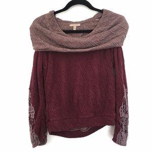 [BORDEAUX] Anthropologie 100% Cotton soft sweater
